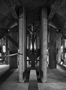 graansilo;symmetrie;Symmetry;interieur;beton