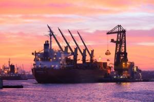 waalhaven;zonsondergang;rotterdam