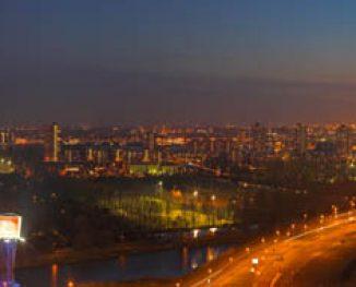 Rotterdam gezien vanaf Rivium