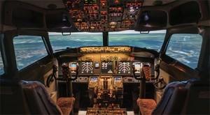 cockpit, airplane