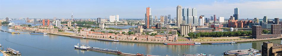 panorama Rotterdam met Katendrecht