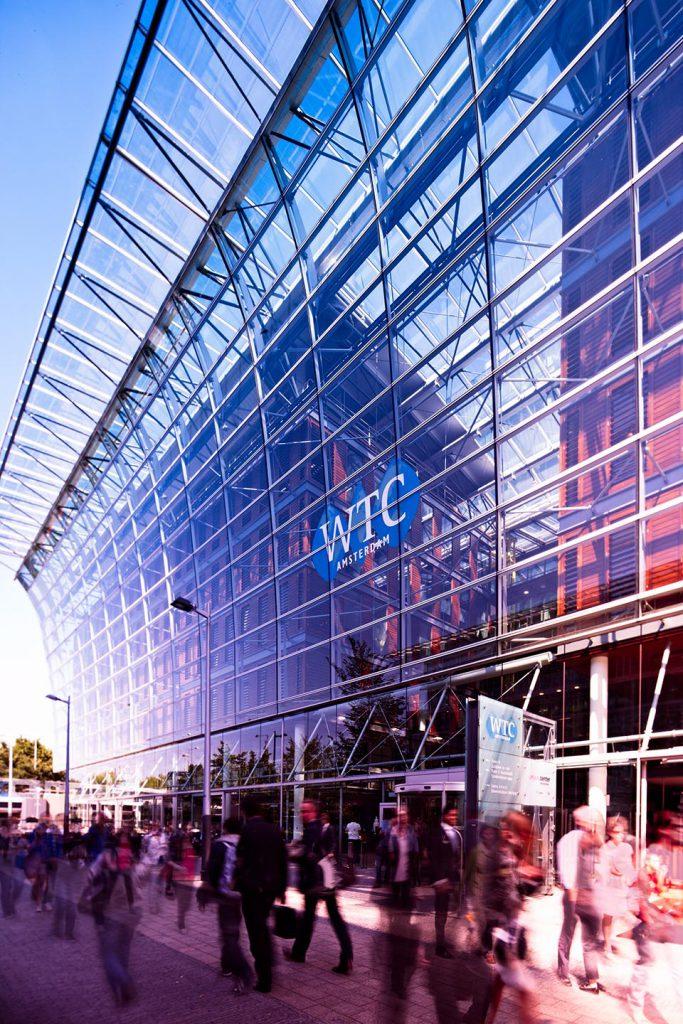 Het plein voor het WTC in Amsterdam