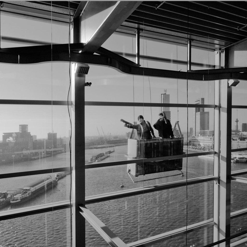 glazenwassers in Rotterdam