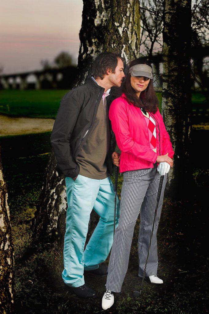 model fotograaf voor golf