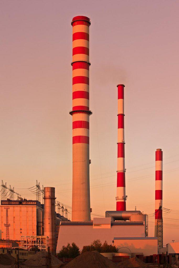 schoorstenen kolencentrale