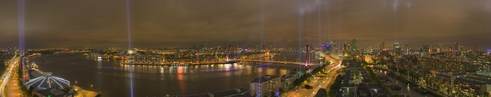 Brandgrens Rotterdam panorama