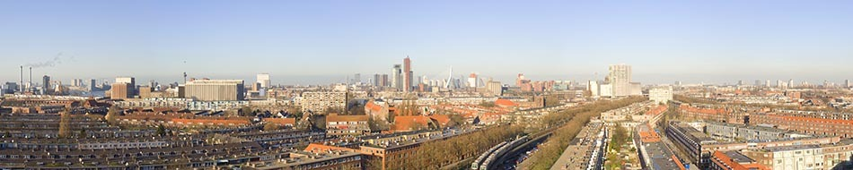 Rotterdam gezien vanaf Charlois panorama