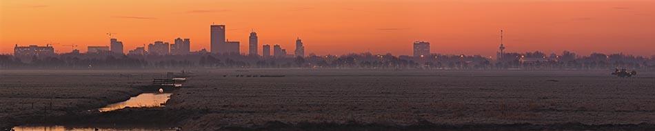 Rotterdam gezien vanaf west panorama