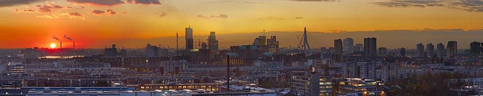 Rotterdam gezien vanaf de Esch