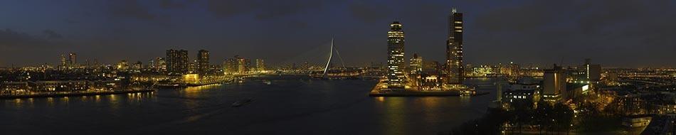 Rotterdam mijn stad bij avond